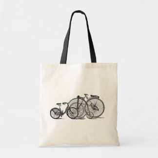 Vintage Bicycles Old Fashion Bicycle Tote Bags Budget Tote Bag