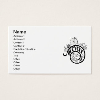 Vintage Bicycles Recycle Apparel and Gifts Business Card