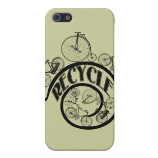 Vintage Bicycles Recycle Apparel and Gifts Cover For iPhone 5