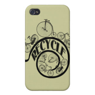 Vintage Bicycles Recycle Apparel and Gifts iPhone 4 Cases