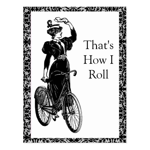 Vintage Bicyclist Post Card