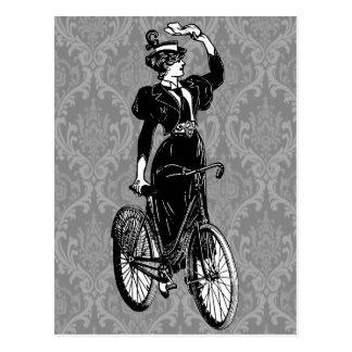 Vintage Bicyclist Postcard