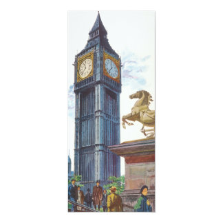 Vintage Big Ben and Horse Statue London Invitation