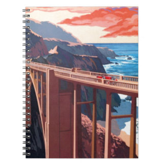 Vintage Big Sur Bixby Bridge USA Tourism Spiral Note Book