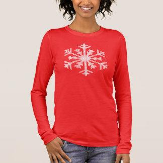 Vintage Big White Snowflake Christmas Long Sleeve T-Shirt