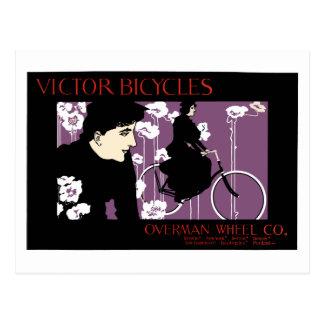 Vintage bike ad Victor Bicycles Victorian Postcard