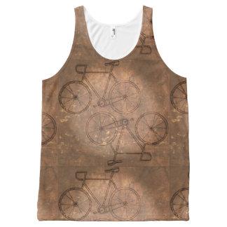 Vintage Bike Distressed All-Over Print Tank Top