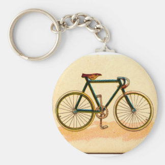 vintage bike key ring
