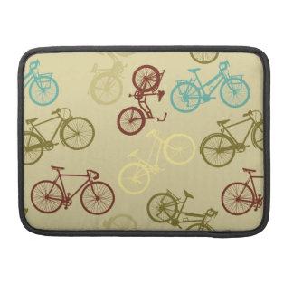 Vintage bike pattern MacBook pro sleeve