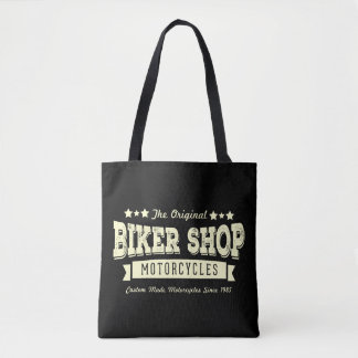 Vintage Bike Shop Tote