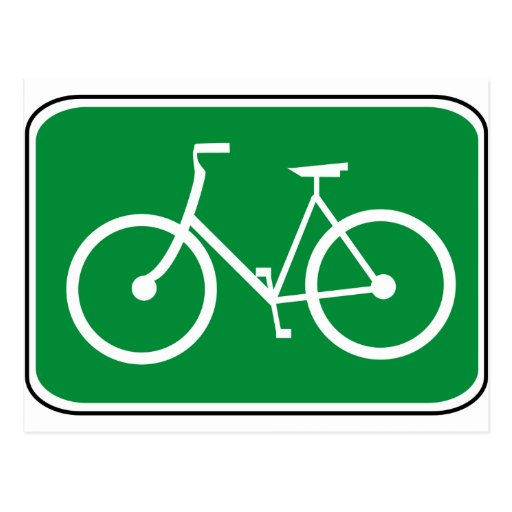 Vintage Bike Sign Postcard