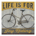 Vintage Bike With Quote Poster