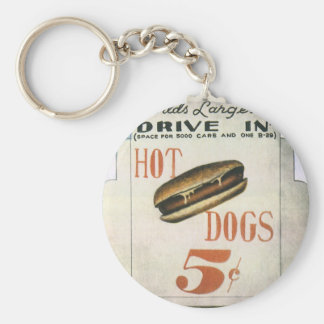 Vintage Billboard, Worlds Largest Drive In Hotdogs Key Ring