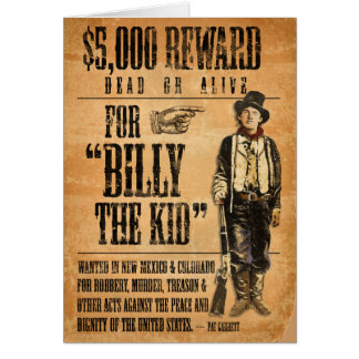 Vintage Billy the Kid Card