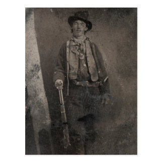 Vintage Billy the Kid Old West Outlaw Postcard