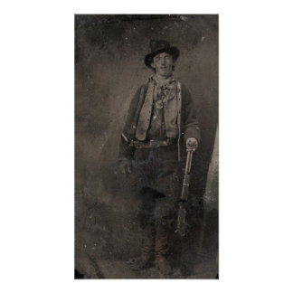 Vintage Billy the Kid Old West Outlaw Poster
