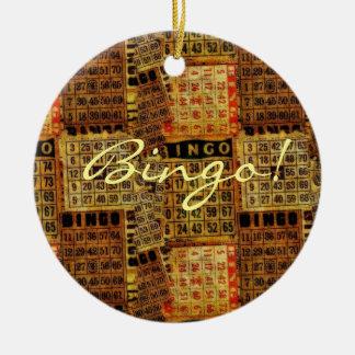 Vintage Bingo Card illustrations -Ornament Ceramic Ornament