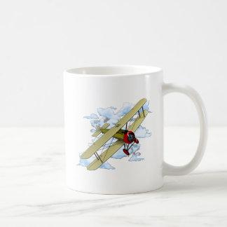 Vintage Biplane Flying Coffee Mug