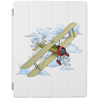 Vintage Biplane Flying iPad Cover