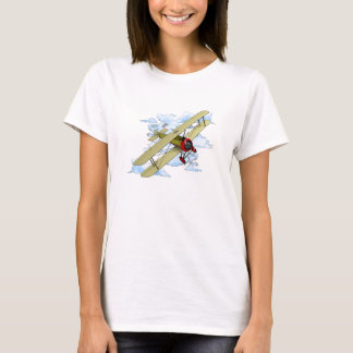 Vintage Biplane Flying T-Shirt