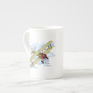 Vintage Biplane Flying Tea Cup