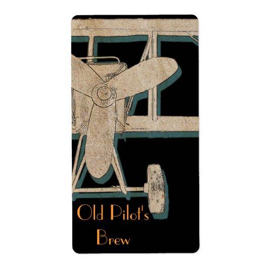 Vintage biplane - old pilot's brew
