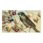 Vintage Bird and Berries Business Cards