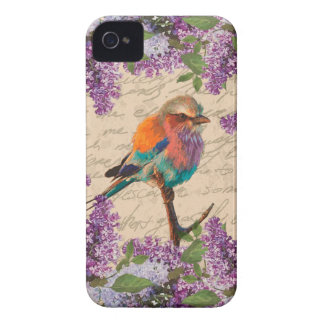 Vintage bird and lilac Case-Mate iPhone 4 cases