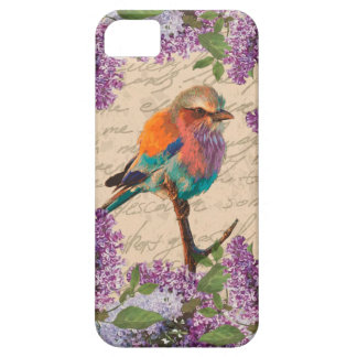 Vintage bird and lilac iPhone 5 case
