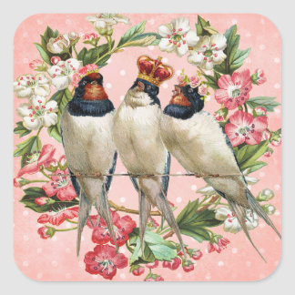Vintage Bird Barn Swallow Stickers