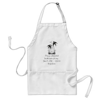Vintage Bird Cage Happily Ever After Anniversary Standard Apron