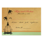 Vintage Bird Cage Place Card with Menu Selection Business Cards