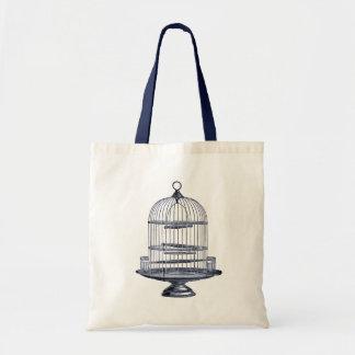 Vintage Bird Cage Tote Bag