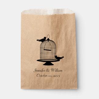 Vintage Bird Cage Wedding Favor Bag Favour Bags