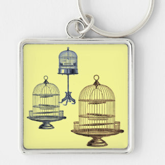 Vintage Bird Cages Key Ring