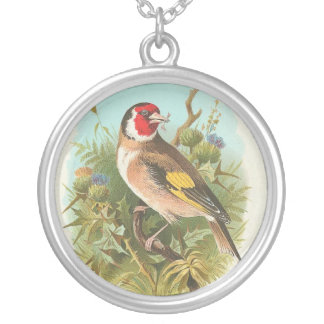 Vintage Bird Called A Goldfinch Silver Plated Necklace