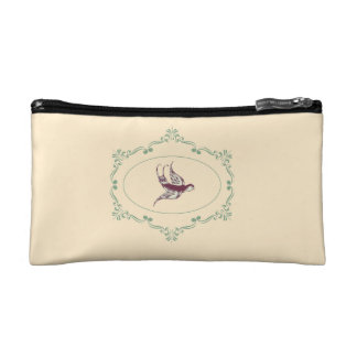 Vintage Bird Cosmetic Bag