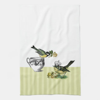 Vintage Bird Couple Gift Kitchen Towels