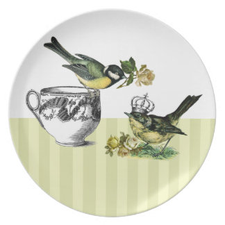 Vintage Bird Couple Valentine s Day Gift Plate