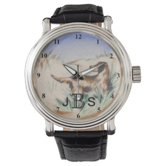 Vintage Bird Dog Hunting | Masculine Monogram Watch