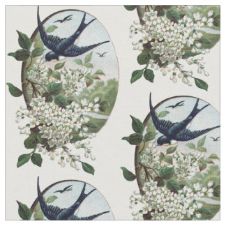 vintage bird fabric