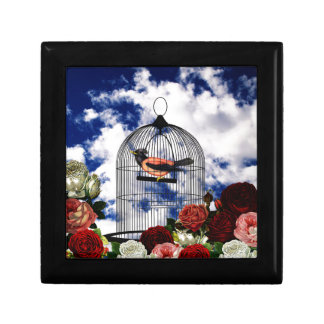 Vintage bird in the cage gift box