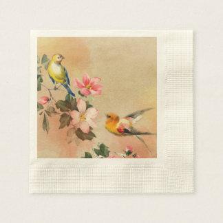 Vintage Bird Napkins Paper Napkins