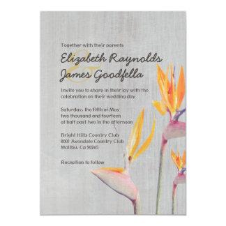 Vintage Bird of Paradise Wedding Invitations Custom Invites