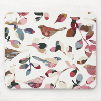 Vintage bird wallpaper mousepad