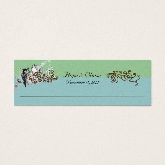 Vintage Bird Wedding Tags Mini Business Card