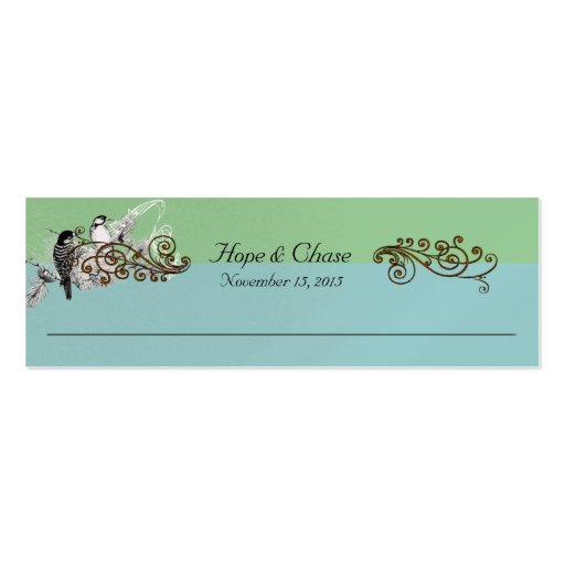 Vintage Bird Wedding Tags Pack Of Skinny Business Cards
