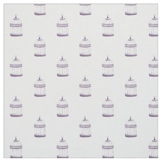 Vintage Birdcage | Royal Purple Watercolor Fabric