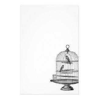 Vintage Birdcage with Birds...stationery Stationery