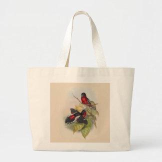 Vintage Birds 002 Large Tote Bag
